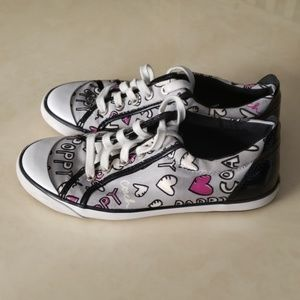 Coach grey pink poppy Barrett sneakers 8